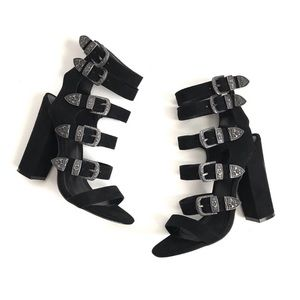 Nasty Gal Block Heel Gladiator Sandals